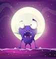 fear horror hell cartoon monster vector image
