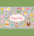 happy easter collection object design element vector image