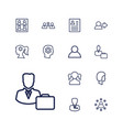 13 profile icons vector image vector image