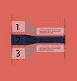 5 steps of modern arrow infografics template for vector image vector image