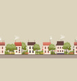 a small two-story house vector image vector image