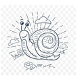a snail black and white vector image vector image