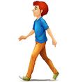A tall man walking vector image vector image