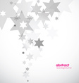 Abstract background template with stars vector image