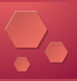 abstract creative collage with hexagonal paper vector image vector image