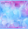 abstract hexagon geometrical background vector image