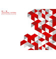 abstract red geometric background with polygonal vector image vector image