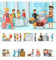 airport elements concept vector image vector image