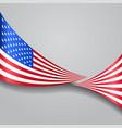 american wavy flag vector image