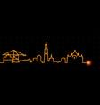 antwerp light streak skyline vector image