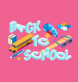 back to school banner 10 vector image vector image