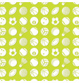 background pattern with different kinds balls vector image vector image