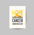 banner for childhood cancer awareness day vector image