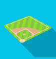 baseball court baseball single icon in flat style vector image