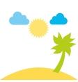 beautiful beach day landscape design vector image vector image