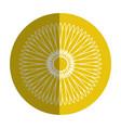 beautiful sunflower decoration icon vector image