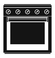 big gas cooker icon simple style vector image