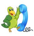 Bird with receiver vector image vector image