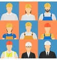 Builders flat avatars vector image