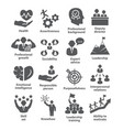 business management icons pack 46 icons for vector image vector image
