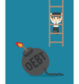 Businessman freedom vector image