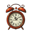 cartoon old alarm clock vector image vector image