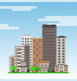 city line with multistorey apartment houses and vector image vector image