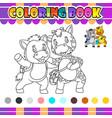 coloring book donkey and giraffe vector image vector image