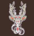 Deer head tattoo design vector image