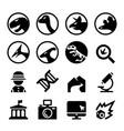 dinosaur icon set vector image vector image