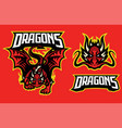 dragon character in sport mascot style vector image vector image