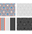 Fashion geometrical pattern with hexagons vector image