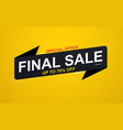 final sale banner sticker up to 70 discount on vector image vector image