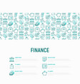 finance concept with thin line icons vector image vector image