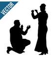 greek dancer silhouettes perform syrtaki vector image