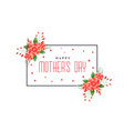 happy mothers day foliage greeting design vector image