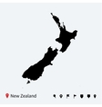 High detailed map of New Zealand with navigation vector image vector image