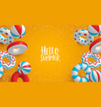 holiday summer background 3d lifesavers vector image vector image