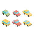 isometric selection of vehicles vector image vector image