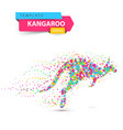 kangaroo dot on the white background vector image