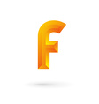 Letter F logo icon vector image vector image