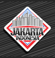 logo for jakarta vector image vector image