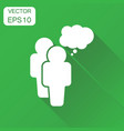 people with speech bubble icon business concept vector image
