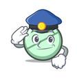 police drug tablet character cartoon vector image