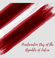 proclamation day of the republic of latvia vector image vector image