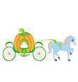 pumpkin carriage vector image