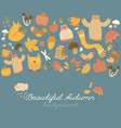 rainy autumn background composition vector image vector image