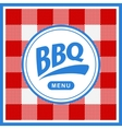 Rounded barbecue label on pattern background vector image vector image