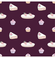 Seamless pattern of dessert vector image vector image