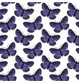 seamless pattern with bright butterflies hand vector image vector image